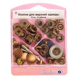 Аксессуары Hemline Набор кнопок для верхней одежды с инструментом для установки, 15 мм
