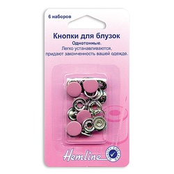 Аксессуары Hemline Кнопки для блузок ,11мм ,розовый