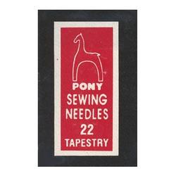 Иглы Pony Иглы для гобеленовых и трикотажных тканей № 22
