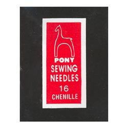 Pony Иглы для синели, глади № 16, 25 шт.