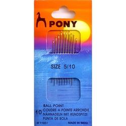 Иглы Pony Иглы для синтетических тканей № 5-10