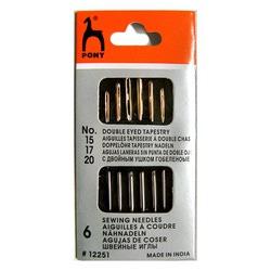 Pony Иглы для гобеленовых и трикотажных тканей № 15-20