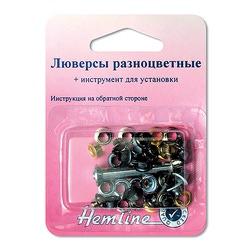 Аксессуары Hemline Люверсы разноцветные с устройством д/установки 4 цвета