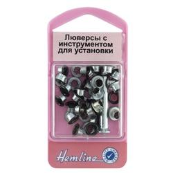 Аксессуары Hemline Люверсы с устройством д/установки, черный