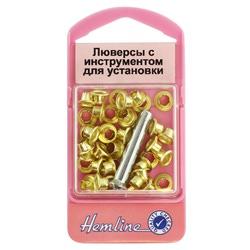 Аксессуары Hemline Люверсы с устройством д/установки, золото