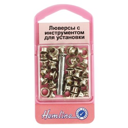 Аксессуары Hemline Люверсы с устройством д/установки, никель