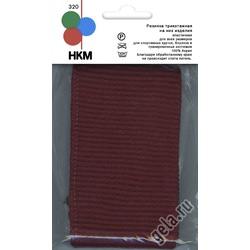 Аксессуары HKM Резинка трикотажная на низ изделия, цвет темно-бордовый