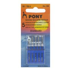 Pony Иглы машинные стандарт, № 100 (5 шт.)