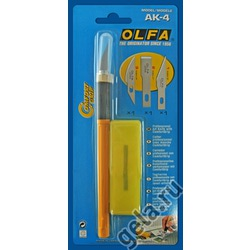 Аксессуары OLFA Нож профессиональный AK-4 с 3 лезвиями (КВ4-S,KB4 -F,KB4 -R)