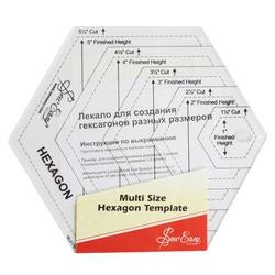 Аксессуары Hemline Лекало для создания гексагонов разных размеров