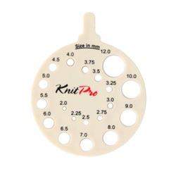 Аксессуары Knit Pro Линейка круглая для определения номера спиц, пластик, бежевый
