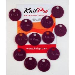Аксессуары Knit Pro Метки для спиц, пластик, темно-розовый