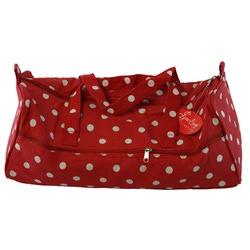 Аксессуары Hemline Сумка для хранения швейных и вязальных принадлежностей, на молнии, красная в горошек