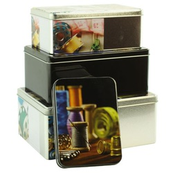 Аксессуары Hemline Набор металлических коробочек для мелкой фурнитуры из 4-х штук