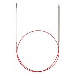 Спицы Addi Круговые с удлиненным кончиком металлические 5 мм / 100 см