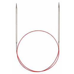 Спицы Addi Круговые с удлиненным кончиком металлические 5.5 мм / 100 см
