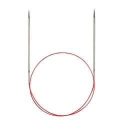 Спицы Addi Круговые с удлиненным кончиком металлические 5 мм / 80 см
