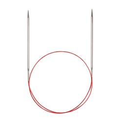 Спицы Addi Круговые с удлиненным кончиком металлические 6 мм / 80 см