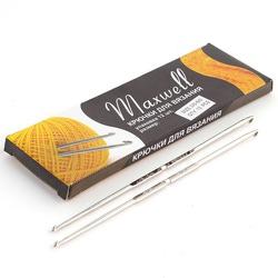 Крючок Maxwell для вязания №3/0-6/0 двустороний