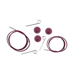 Аксессуары Knit Pro Тросик (заглушки 2шт, ключик) для съемных спиц, длина 94 (готовая длина спиц 120)