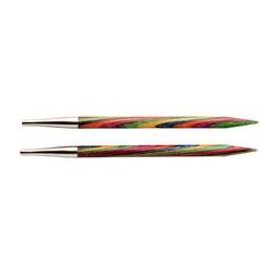 """Спицы Knit Pro съемные """"Symfonie"""" 4мм для длины тросика 20см, дерево, многоцветный, 2шт"""