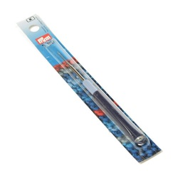 Крючок Prym для пряжи стальной с защитным колпачком №1