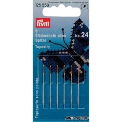 Иглы Prym для вышивания со скруглённым остриём (сталь) №24 серебр.цв.