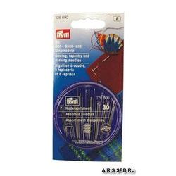 Иглы Prym набор для шитья,вышивки и штопки в распределительном пенале