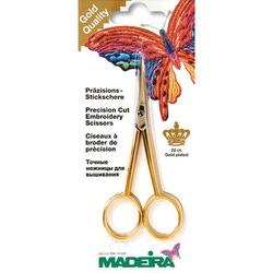 Аксессуары Madeira Ножницы для вышивания (загнутые концы, позолота 22 карата)