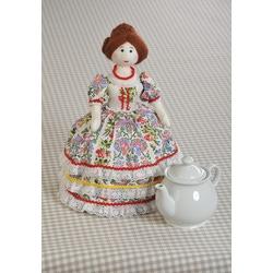 "Кукла Перловка ""Барыня-грелка"" (грелка на чайник)"
