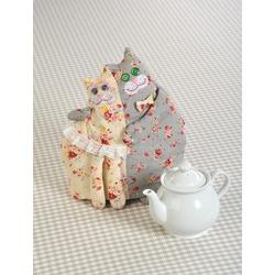 """Кукла Перловка """"Кошки грелка"""" (грелка на чайник)"""