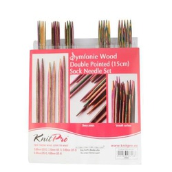 "Набор Knit Pro Набор чулочных спиц длиной 15см ""Symfonie"" дерево"