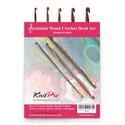 """Крючок Knit Pro Набор двухсторонних крючков для вязания """"Symfonie"""" дерево"""