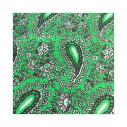 Ткань Бязь плательная огурцы на зеленом