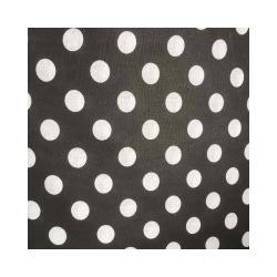 Ткань Бязь плательная 150, белый горох на черном