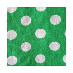 Ткань Бязь плательная 150, белый горох на зеленом