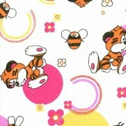 Ткань Фланель белоземельная, кот сердечко и бабочка