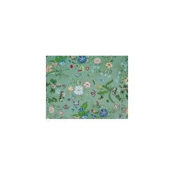 Ткань Джинс стрейч принт, мятно-зеленый, мультиколор