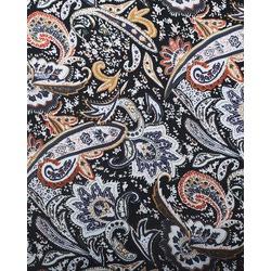 Ткань Джинс стрейч принт, черный, мультиколор