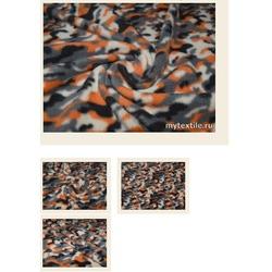 """Ткань ФЛИС 34 """"ДЮССОЛЬД"""", серый,оранжевый, белый, черный"""