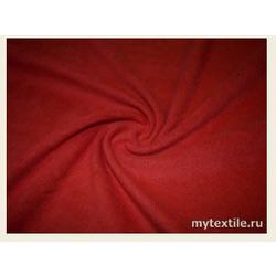 Ткань Флис однотонный, темно-красный