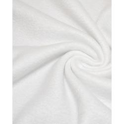 Ткань Флис однотонный 2-2, белый