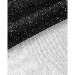 Ткань Сетка Бриллиант,8-16 цв. черный с серебром