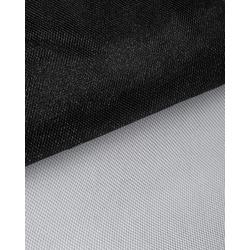 Ткань Фатин сетка металлик, цв.черный