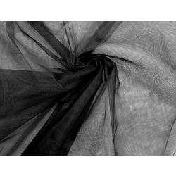Ткань МАГ Фатин жесткий, Д02, ср. жесткости, черный (сетка)