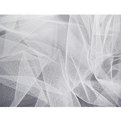 Ткань МАГ Фатин жесткий, Д02, ср. жесткости, бел. (сетка)