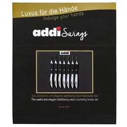 Набор Addi крючков для вязания с эргономичной пластиковой ручкой addiSwing