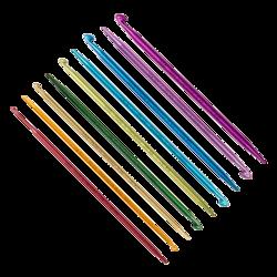 Крючок Addi addiDuett, двусторонний со спицей на конце 3.5 мм / 15 см