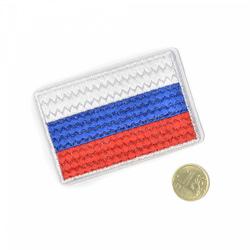 """МАГ """"Термоаппликация вышитая """"Российский флаг"""""""""""