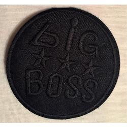 """Термоаппликации СтарТекс Термоаппликация """"BIG BOSS"""" черный р. 7,5 см"""